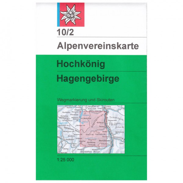 DAV - Hochkönig / Hagengebirge 10/2 - Vandringskartor