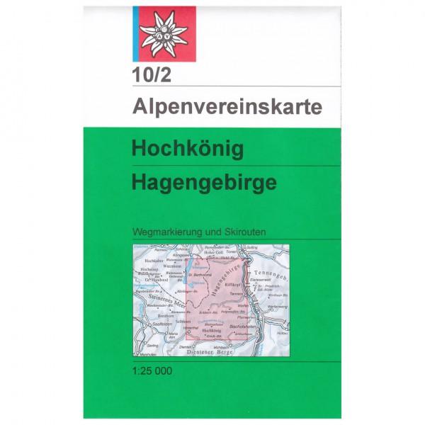 DAV - Hochkönig / Hagengebirge 10/2 - Wandelkaarten