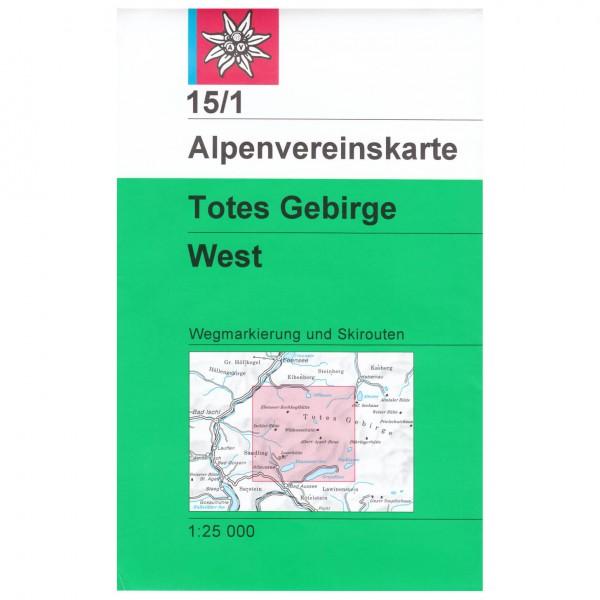 DAV - Totes Gebirge, westliches Blatt 15/1 - Vandrekort
