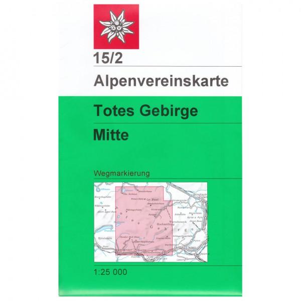 DAV - Totes Gebirge, mittleres Blatt 15/2 - Hiking map