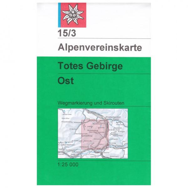 DAV - Totes Gebirge, östliches Blatt 15/3 - Wandelkaart