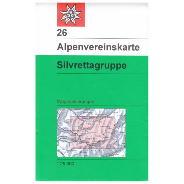 DAV - Silvrettagruppe 26 - Carte de randonnée