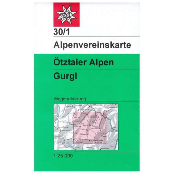 DAV - Ötztaler Alpen, Gurgl 30/1 - Hiking map