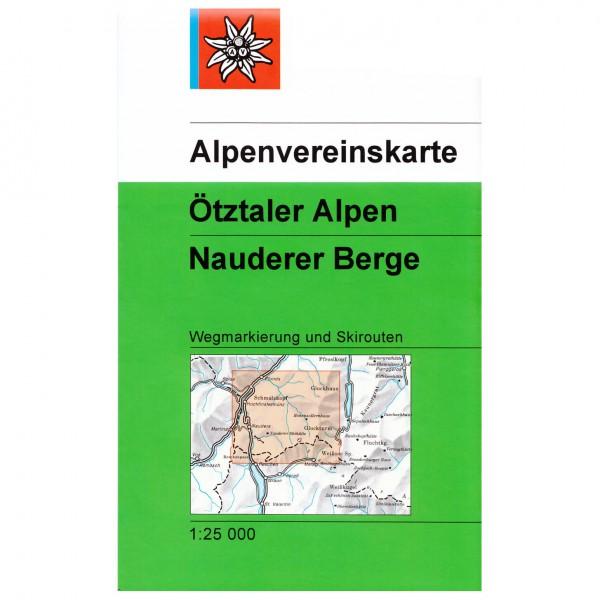 DAV - Ötztaler Alpen, Nauderer Berge 30/4 - Wanderkarte