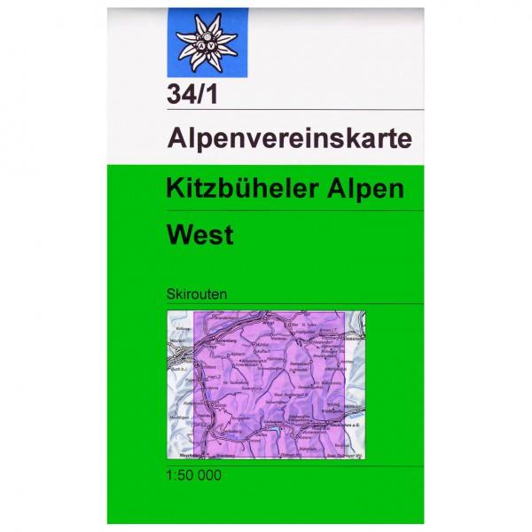 DAV - Kitzbühler Alpen, West 34/1 - Wandelkaarten