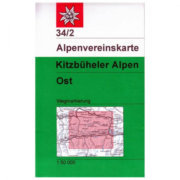 DAV - Kitzbühler Alpen, östliches Blatt 34/2 - Vandringskartor