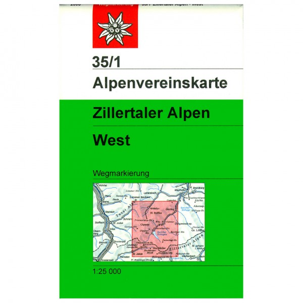 DAV - Zillertaler Alpen, westliches Blatt 35/1 - Wandelkaarten