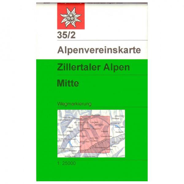 DAV - Zillertaler Alpen, mittleres Blatt 35/2 - Vaelluskartat