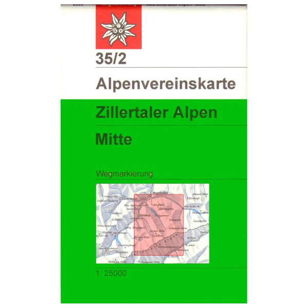 DAV - Zillertaler Alpen, mittleres Blatt 35/2