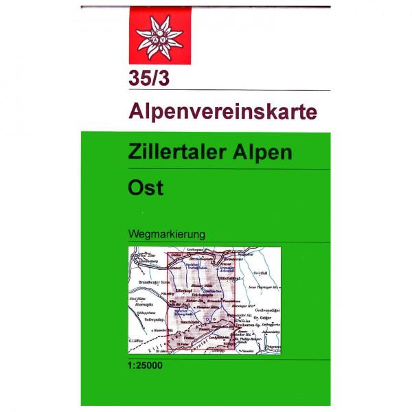 Zillertaler Alpen,  ¶stliches Blatt 35/3 - Hiking map