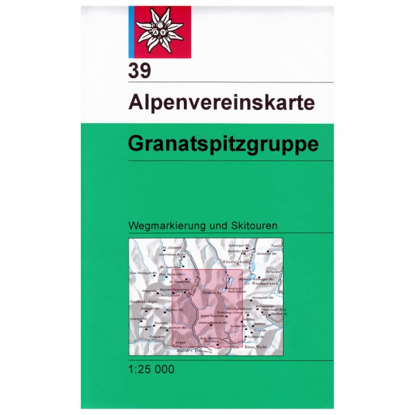 DAV - Granatspitzgruppe 39 - Mapa de senderos