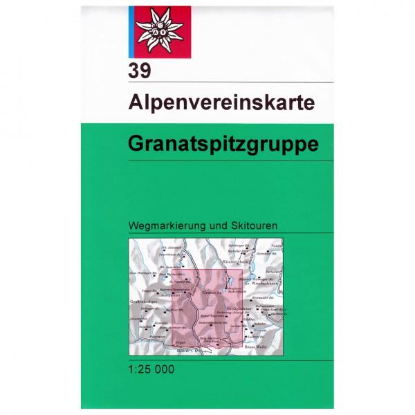 DAV - Granatspitzgruppe 39 - Vaelluskartat