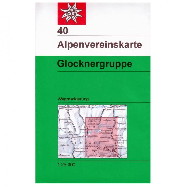DAV - Glocknergruppe 40 - Wandelkaarten