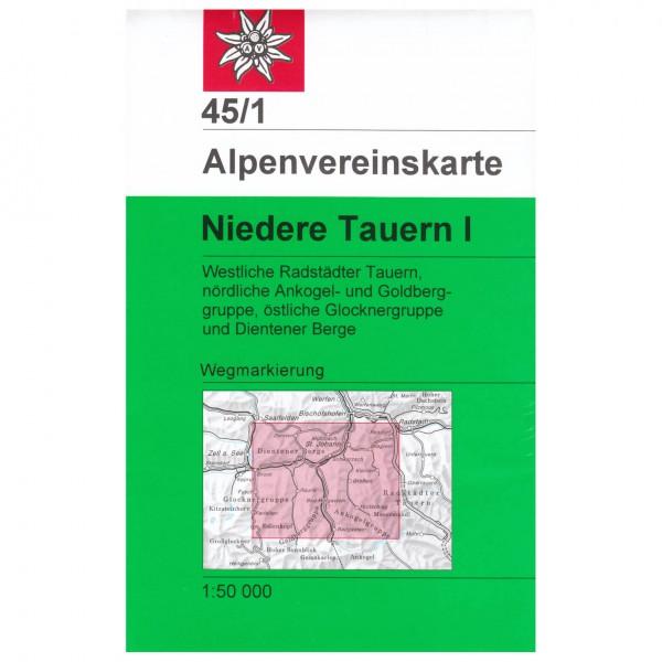 DAV - Niedere Tauern I 45/1 - Vaelluskartat