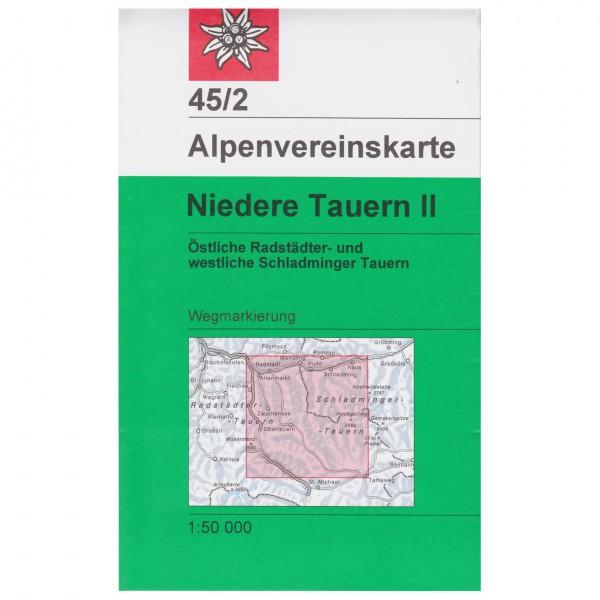 DAV - Niedere Tauern II 45/2 - Vandrekort