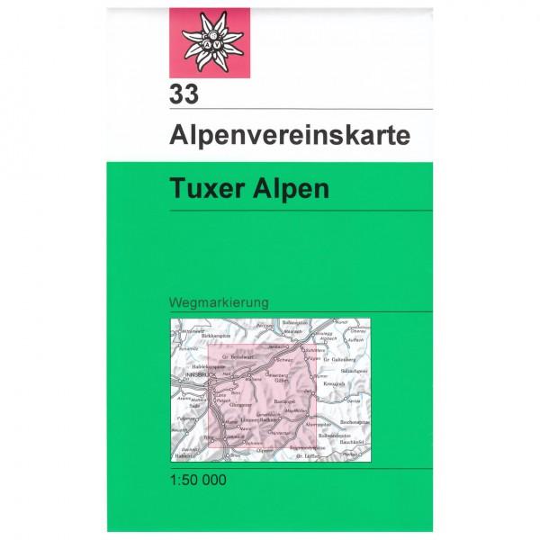 DAV - Tuxer Alpen 33 - Wandelkaart