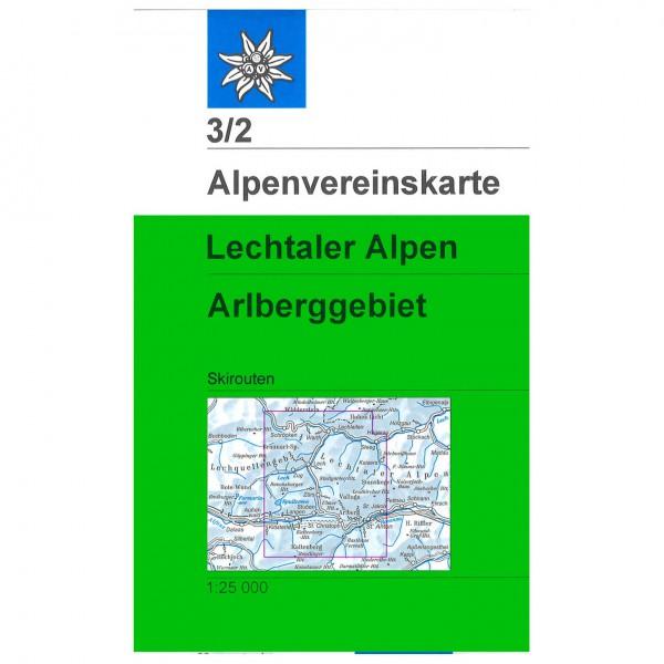 DAV - Lechtaler Alpen, Arlberggebiet 3/2 - Skitourenkarte