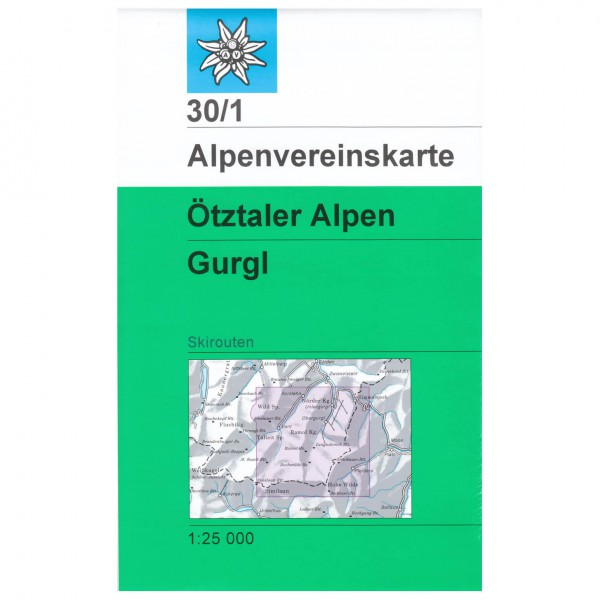DAV - Ötztaler Alpen, Gurgl 30/1 - Skitourenkarte