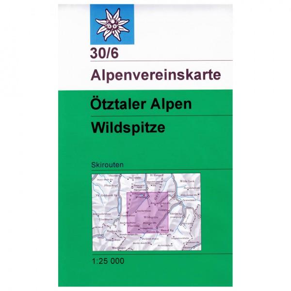 DAV - Ötztaler Aplen, Wildspitze 30/6 - Skitourenkarte