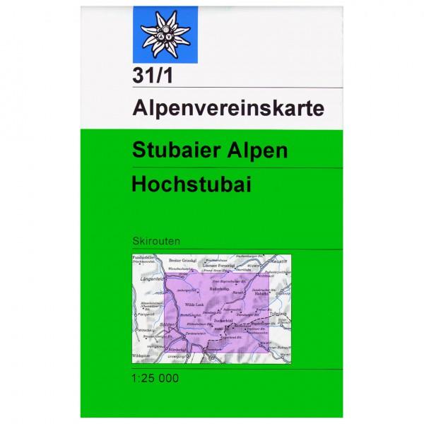 DAV - Stubaier Alpen, Hochtubai 31/1 - Skitourenkarte