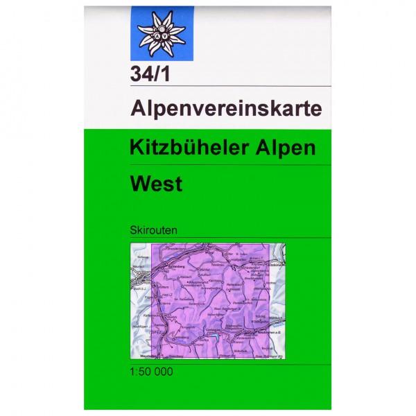 DAV - Kitzbühler Alpen West 34/1 S - Skitourenkarte