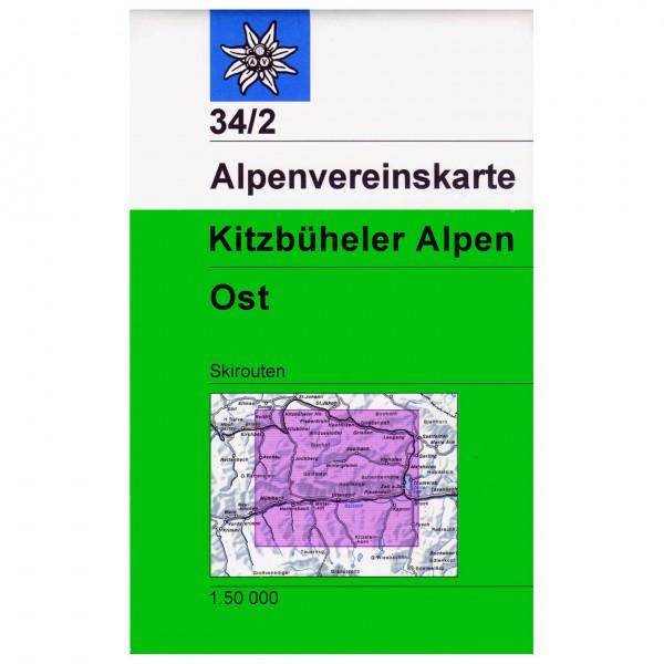 DAV - Kitzbüheler Alpen, östliches Blatt 34/2 - Lasketteluretkioppaat