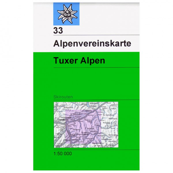 DAV - Tuxer Alpen 33 - Skitourenkarte