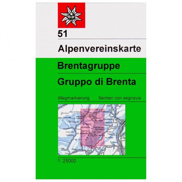 DAV - Brentagruppe 51 - Wanderkarte