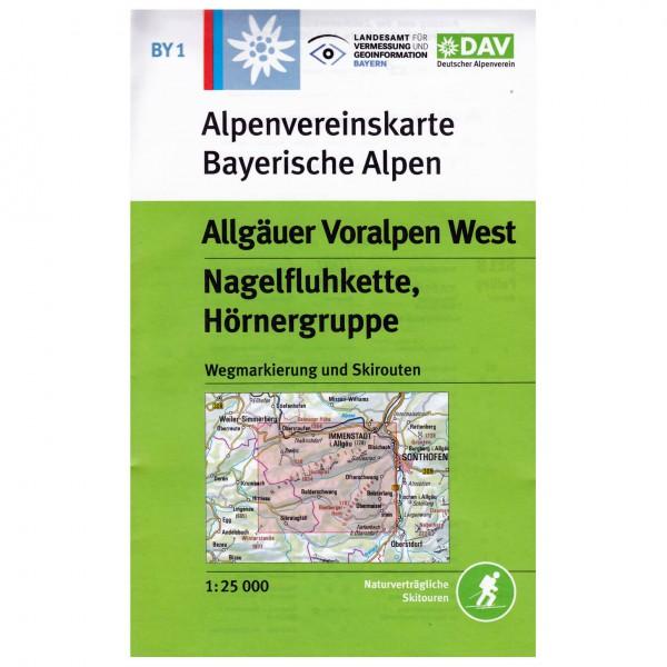 DAV - Allgäuer Voralpen West BY1 - Hiking map
