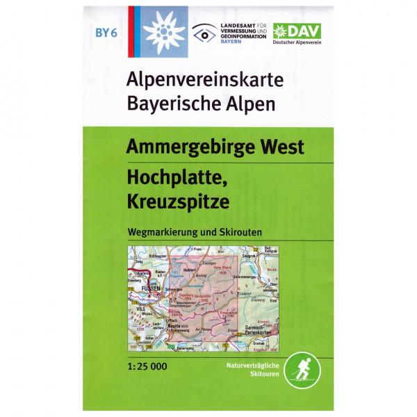 DAV - Ammergebirge West, Hochplatte - Hiking map