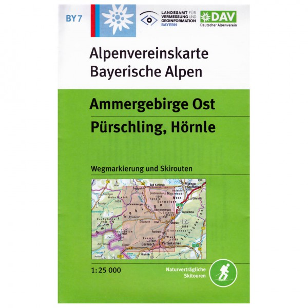 DAV - Ammergebirge Ost, Pürschling, Hörnle BY7 - Hiking map