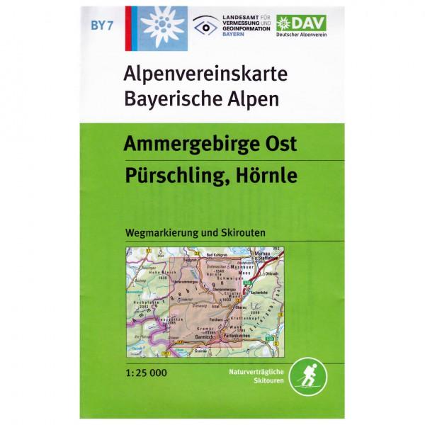 DAV - Ammergebirge Ost, Pürschling, Hörnle BY7 - Vandrekort
