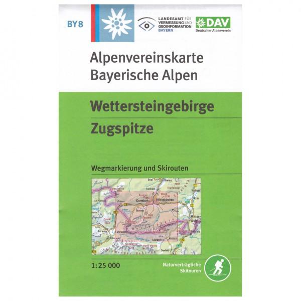 DAV - Wettersteingebirge, Zugspitze BY8 - Wandelkaart