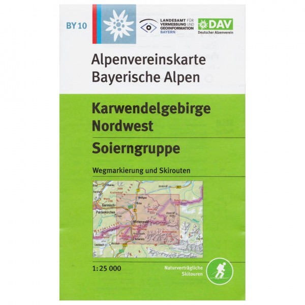 DAV - Karwendelgebirge Nordwest, Soierngruppe BY10 - Hiking map