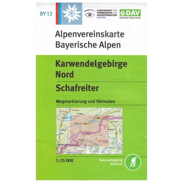DAV - Karwendelgebirge Nord, Schafreiter BY12 - Vandrekort