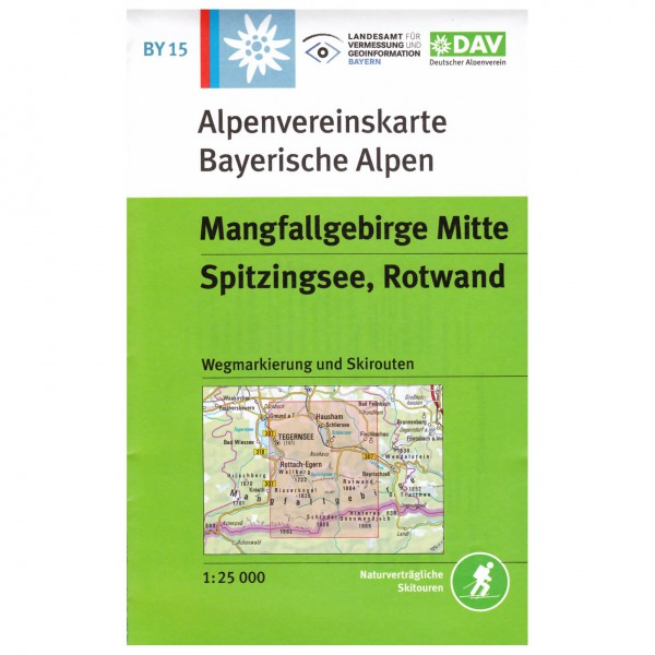 DAV - Mangfallgebirge Mitte, Spitzingsee, Rotwand BY15 - Hiking map