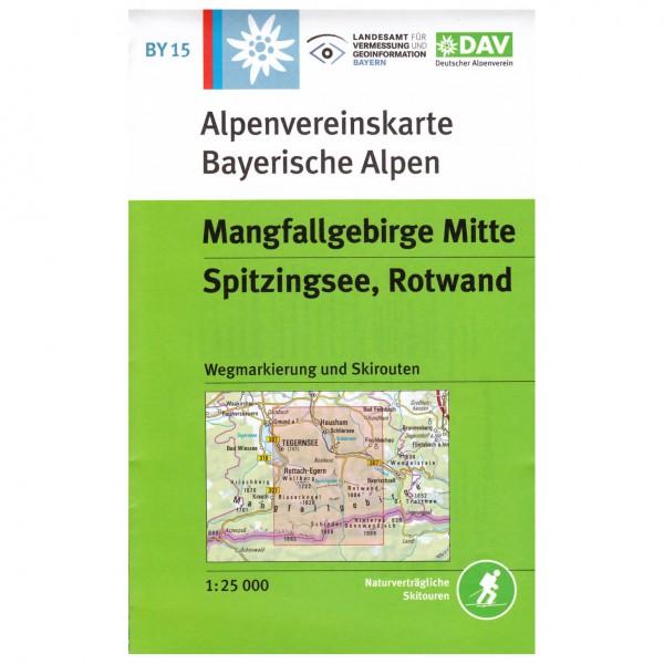 DAV - Mangfallgebirge Mitte, Spitzingsee, Rotwand BY15 - Vandringskartor