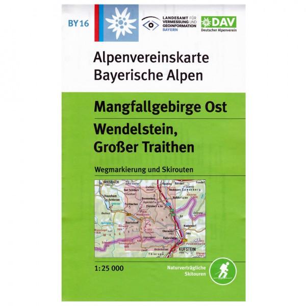 DAV - Mangfallgebirge Ost, Wendelstein BY16 - Vaelluskartat
