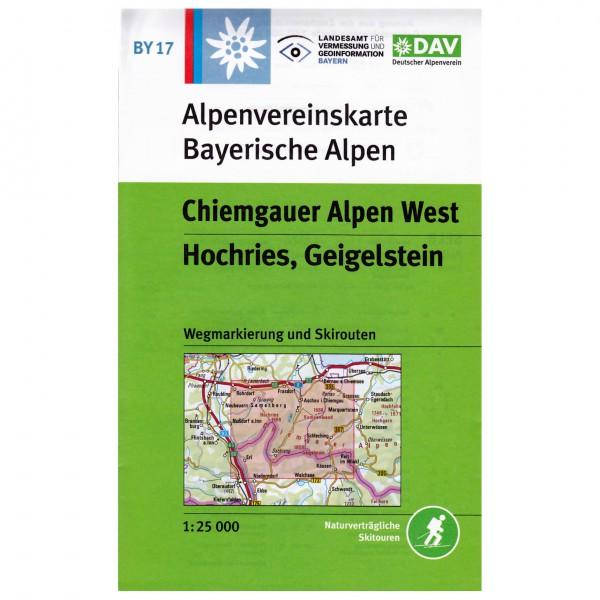 DAV - Chiemgauer Alpen West, Hochries, Geigelstein BY17 - Hiking map