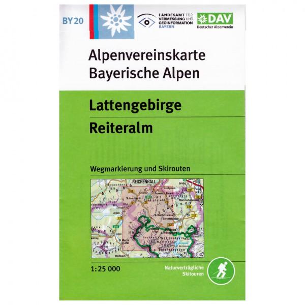 DAV - Lattengebirge, Reiteralm BY20 - Vandrekort