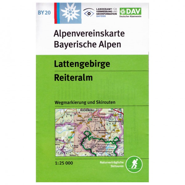 DAV - Lattengebirge, Reiteralm BY20 - Wanderkarte