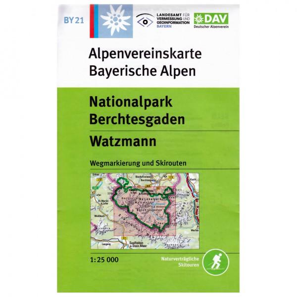 DAV - Nationalpark Berchtesgaden, Watzmann BY21 - Vandringskartor