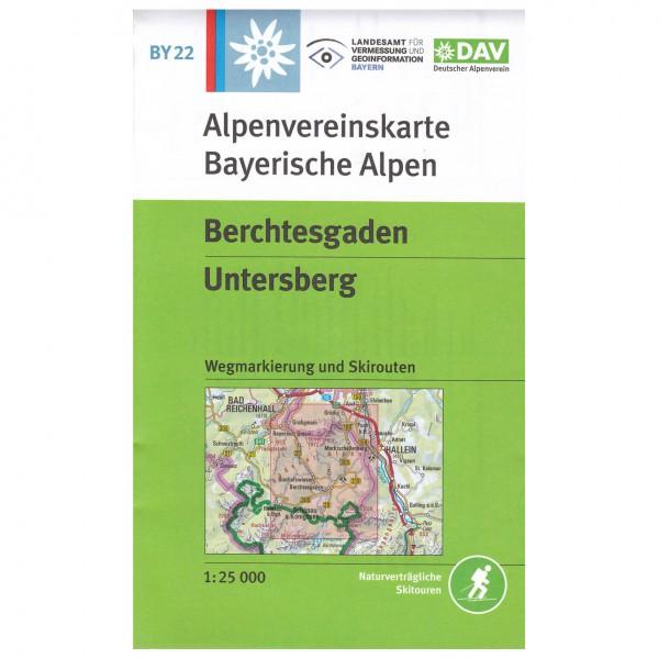 DAV - Berchtesgaden, Untersberg BY22 - Wandelkaarten