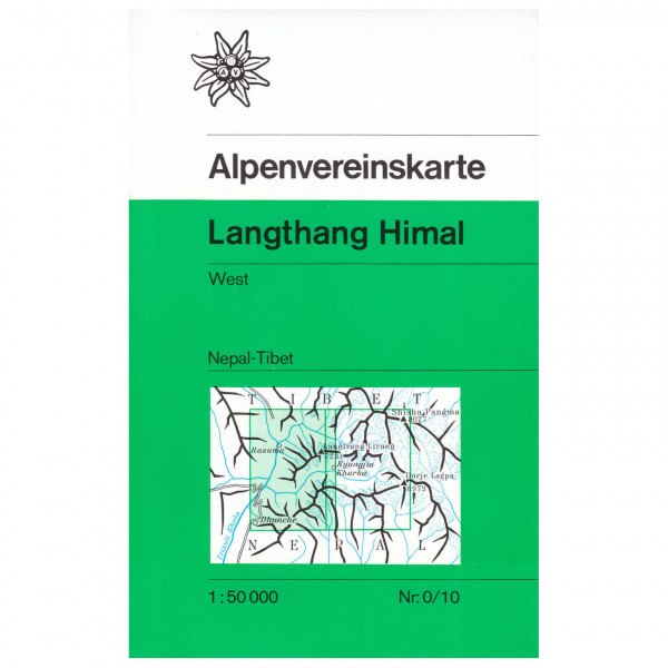 DAV - Langthang Himal (Nepal), westliches Blatt 0/10 - Wandelkaart