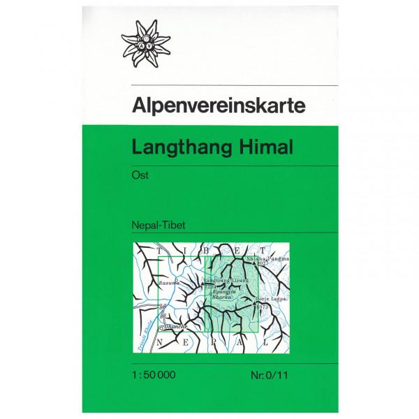DAV - 0/11 Langthang Himal (Nepal), östliches Blatt - Wanderkarte