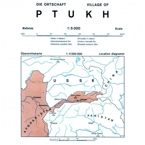 DAV - Ptukh (Afghanistan) 0/6b - Vaelluskartat