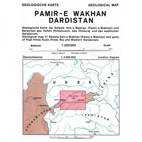 DAV - Pamir-E Wakhan, Dardistan (Afghanistan) 0/6d - Hiking map