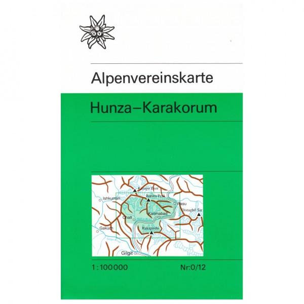 DAV - Hunza-Karakorum 0/12 - Wanderkarte