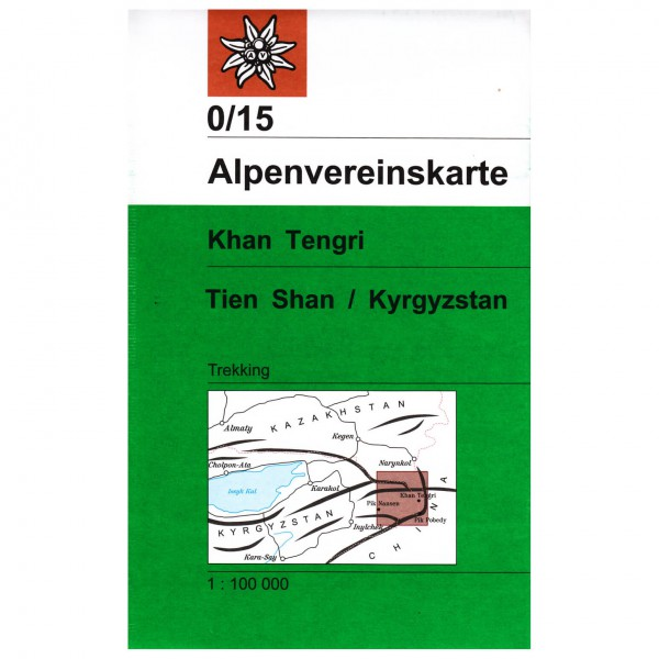DAV - 0/15 Khan Tengri (Tien Shan / Kyrgyzstan) - Wanderkarte