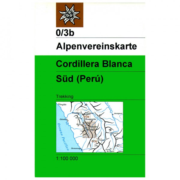DAV - Cordillera Blanca, Südteil 0/3b - Vandrekort